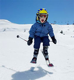 Image result for kid with skis