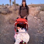 Taking the jogger into Joshua Tree...