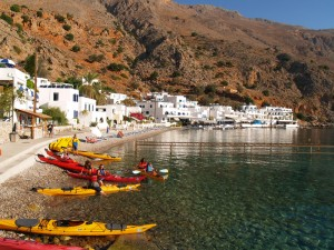 The white-washed village of Loutro.